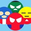 超级英雄的绘文字转转乐大作战 - 颜文字表情符号的游戏等你来挑战!