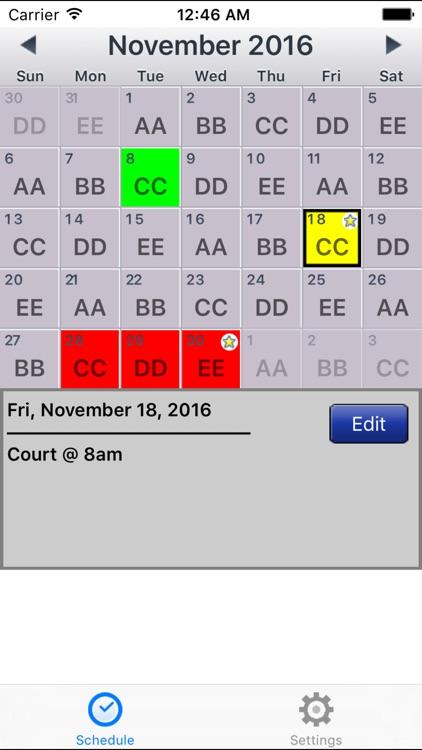 CopApp ! Calendar Schedule Repeating Shift App screenshot-3