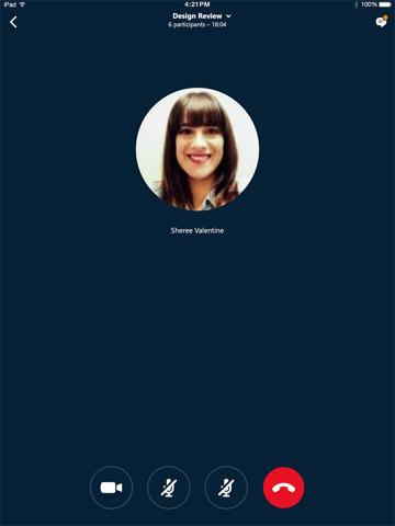 Skype Entreprise iPad captures décran
