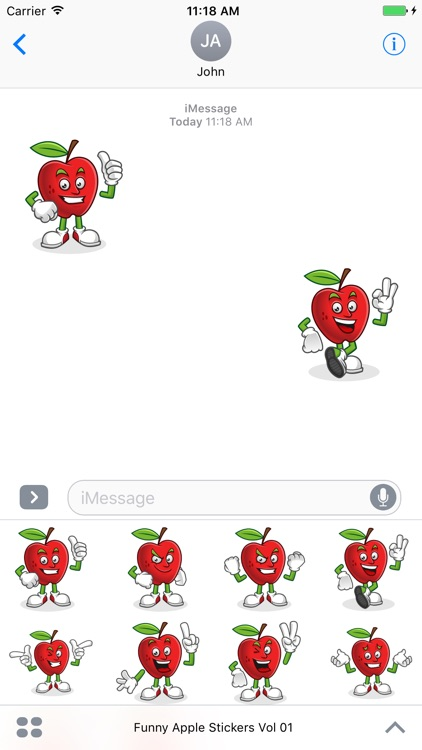 Funny Apple Stickers Vol 01