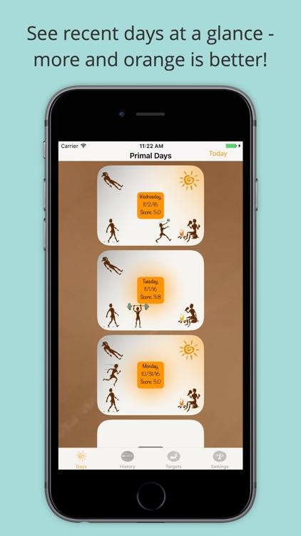 Primal Days Paleo Lifestyle Habit Tracker