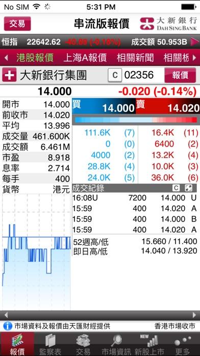 大新銀行證券買賣服務屏幕截圖1