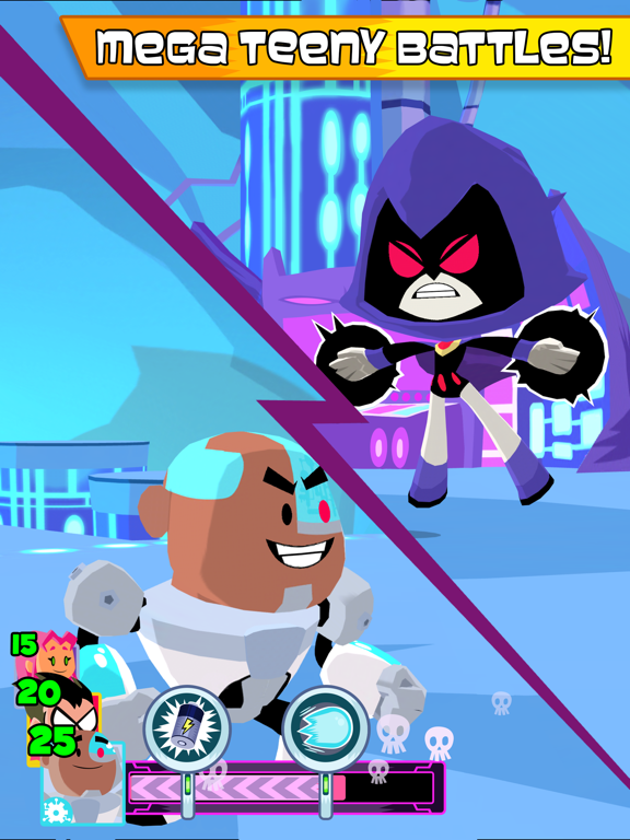 Teeny Titans tablet App screenshot 2