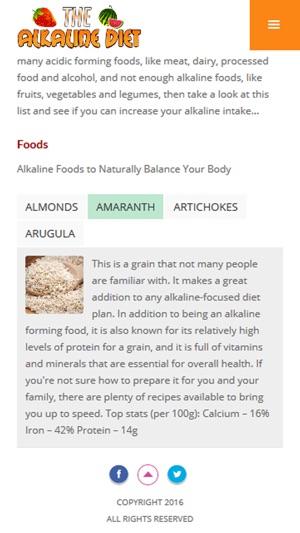 Alkaline Diet Plan Alkaline Diet Foods Benefits On The App Store
