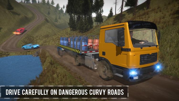 Trailer Truck Off Road Driving screenshot-3