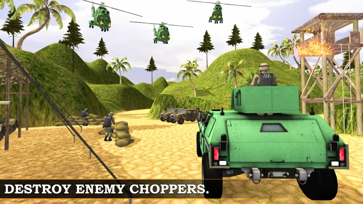 Army War jeep simulator & Shooting Battle Sim