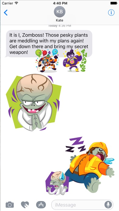 Plants vs Zombies™ Stickers Screenshot
