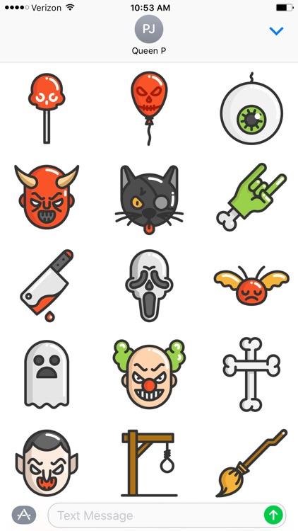Fun Halloween Stickers screenshot-3