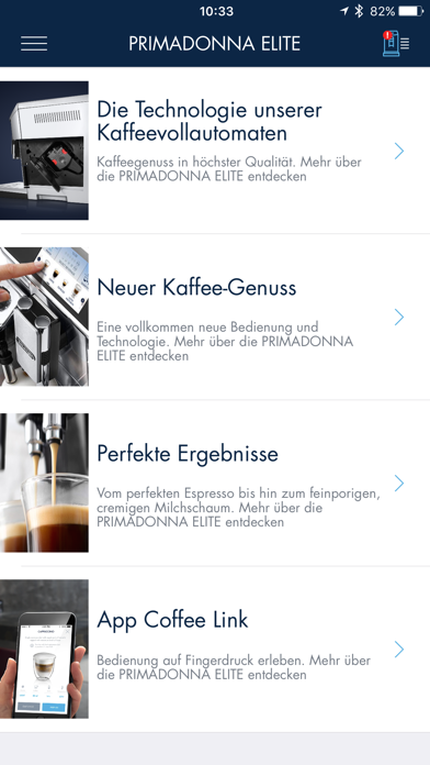 Screenshot for De'Longhi COFFEE LINK in Germany App Store