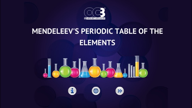 Oc3 mendeleevs periodic table of the elements on the app store screenshots urtaz Images