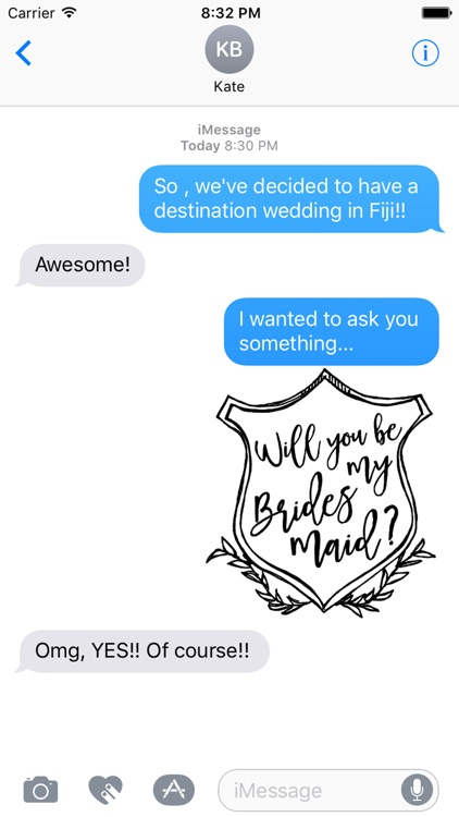 Will You Be My Bridesmaid Wedding Stickers