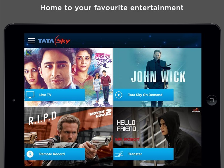 Tata Sky Mobile – for iPad screenshot-0