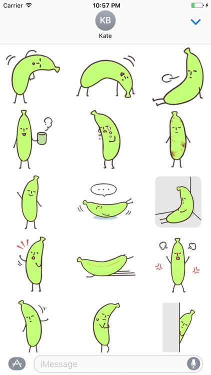 Banana stickers pack for iMessage