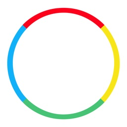 Rainbow circle- Flip the color and dive to win. Rolling sky type game. ball bounce up and up