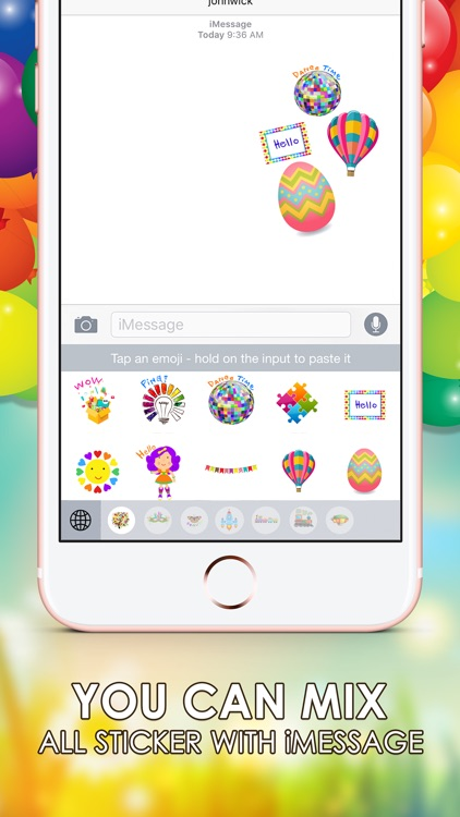 Colorful Emoji Stickers Keyboard Themes ChatStick