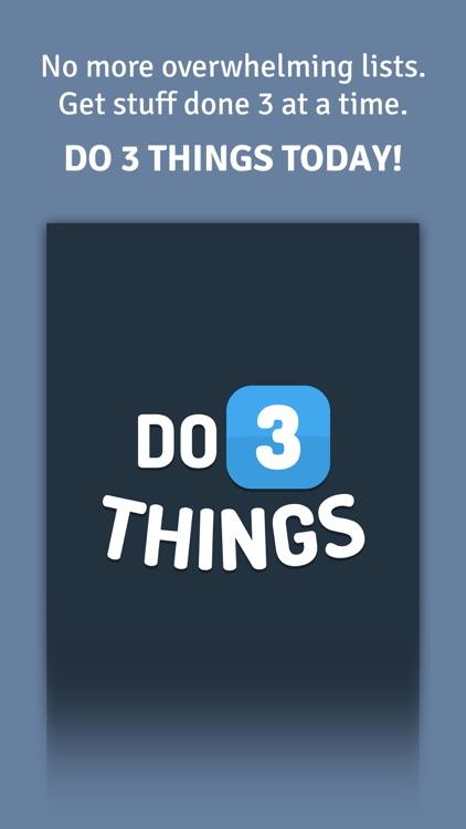 Do 3 Things: To-Do List Daily Habit & Goal Tracker screenshot-4