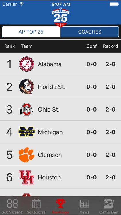 Top 25 College Football Schedules & Scores screenshot-2