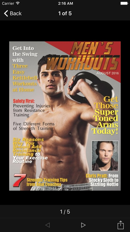 Men's Workouts Magazine screenshot-1