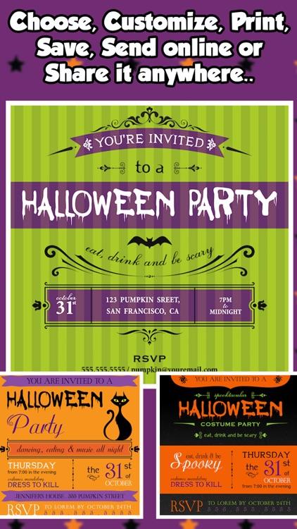 halloween party invitations creator by bhaumik harshadray mehta