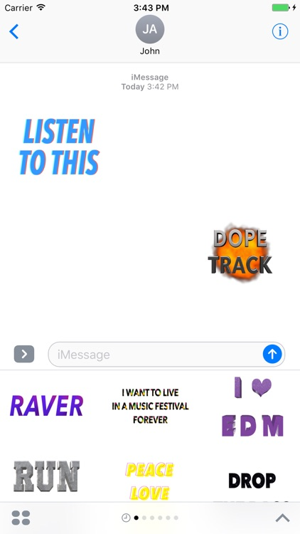 EDM Stickers for iMessage, Electronic Dance Music