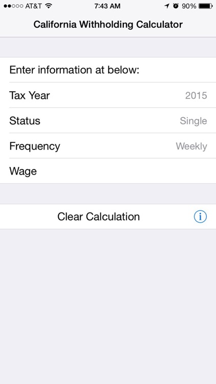 CA Withholding Calculator