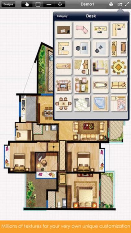 Home Design Pro : Interior Design & Floor Plan CAD screenshot-3