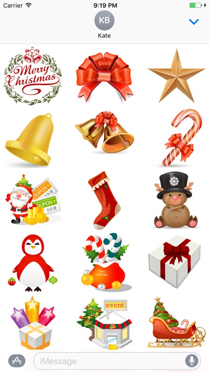 """""""Christmas"""" Stickers for iMessage"""