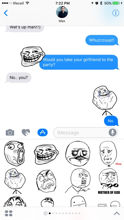 Trollface Stickers