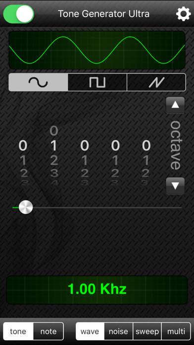 Screenshot #1 pour Tone Generator Ultra
