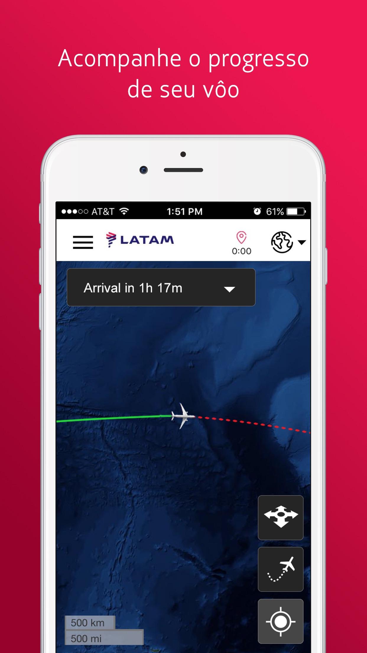 Screenshot do app LATAM Entertainment