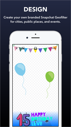 Confetti geofilter design maker for snapchat on the app store for Make a geofilter free