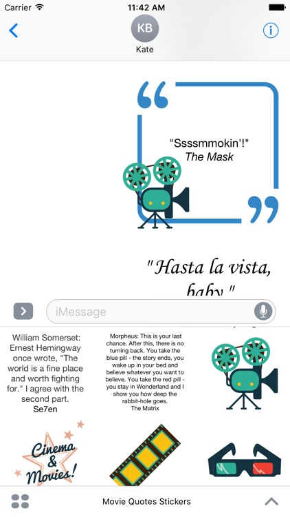 Movie Quotes Stickers For iMessage