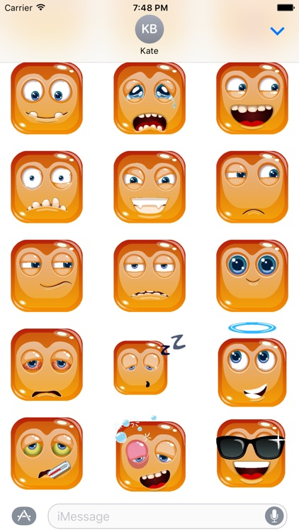 Square Emoji Stickers for iMessage