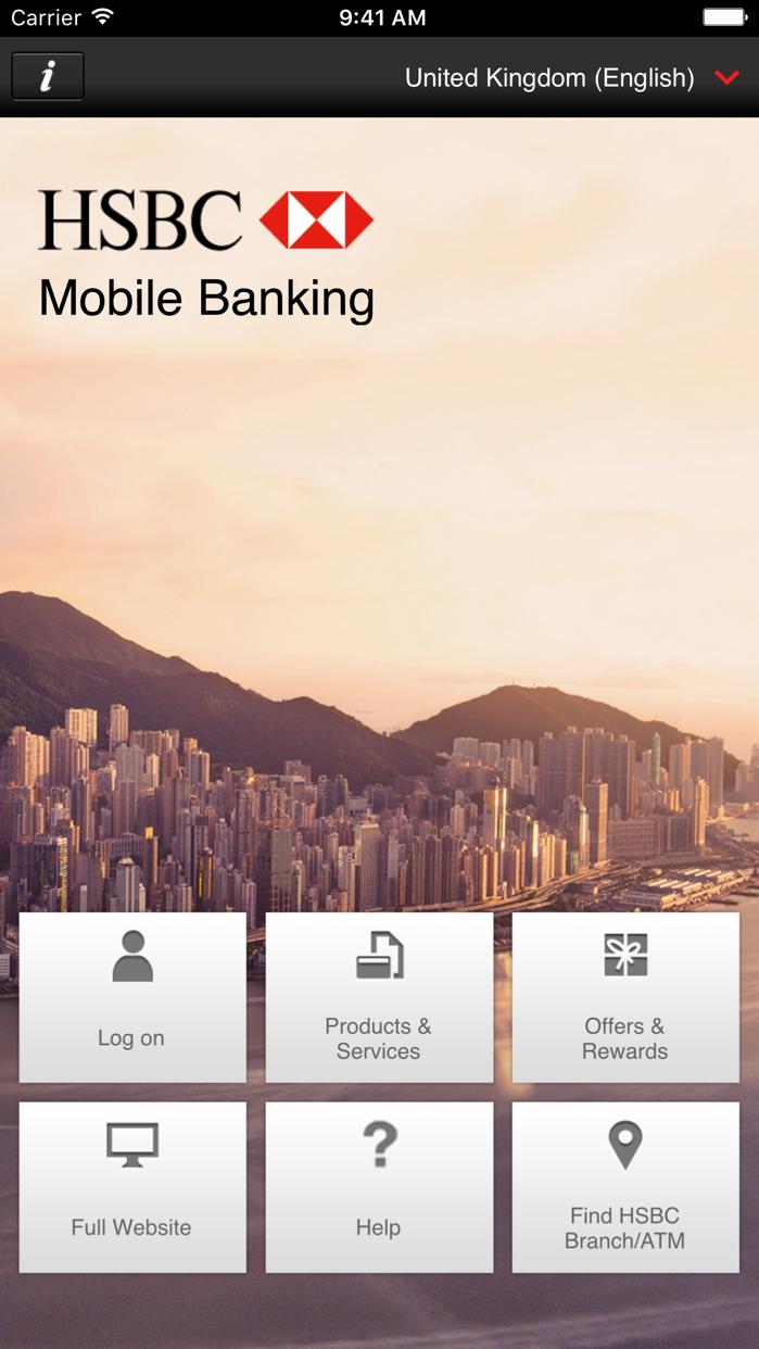 HSBC Mobile Banking Screenshot