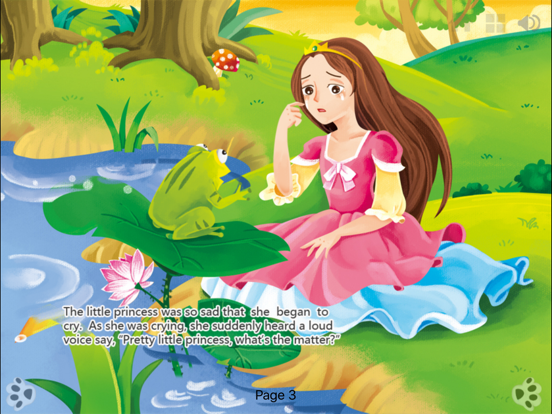 The Frog Prince - bedtime fairy tale Interactive Book-iBigToy screenshot
