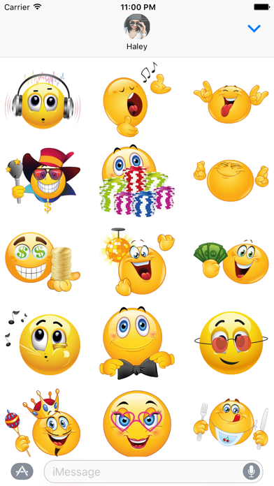Party Emoji – Celebration Stickers for iMessage screenshot two