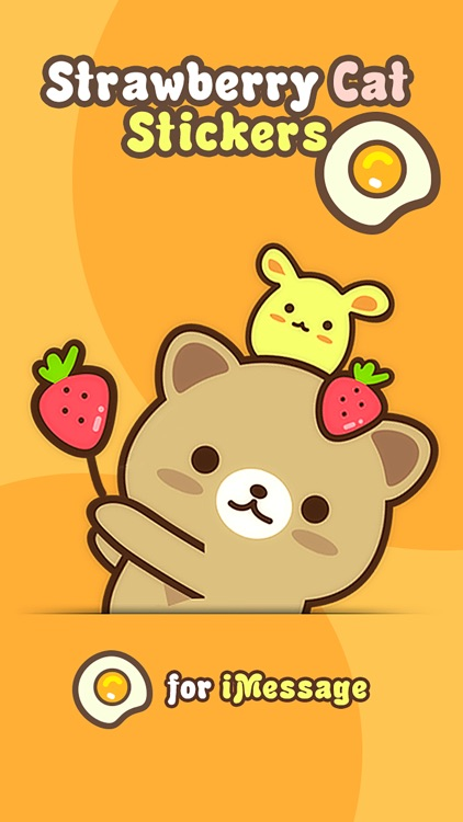 Strawberry Cat Pro - Cute Stickers by NICE Sticker screenshot-0