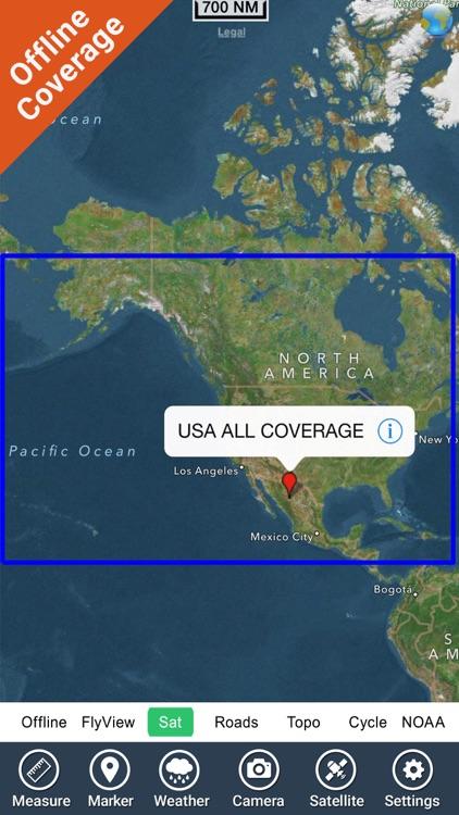 Boating USA GPS map nautical offline fishing chart screenshot-4