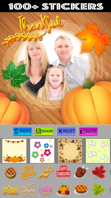 Thanksgiving Photo Frames and Stickers screenshot three