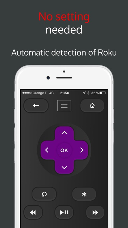 Rokumotee - remote for Roku