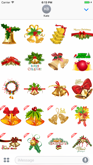 Christmas Jingle Bells Stickers screenshot one