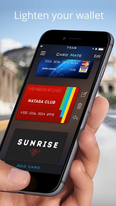 Card Mate - credit wallet Screenshot on iOS
