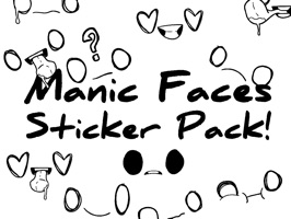 Manic Faces Sticker Pack