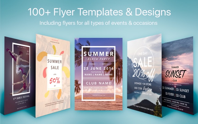 Flyer Templates Designs Flyers For Pages On The Mac App Store - Brochure templates for mac