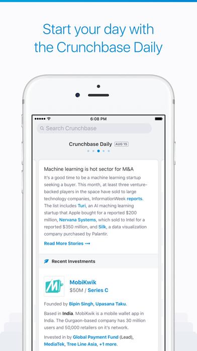 Screenshot 4 for CrunchBase's iPhone app'