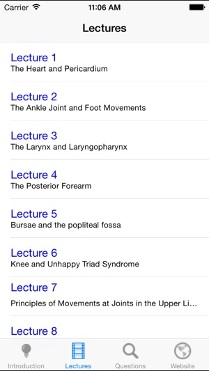 Anatomy Lectures and MCQs on the App Store