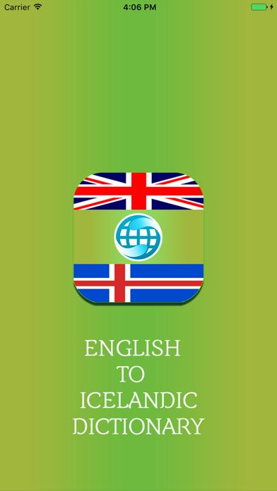 English To Icelandic Dictionary Offline screenshot one