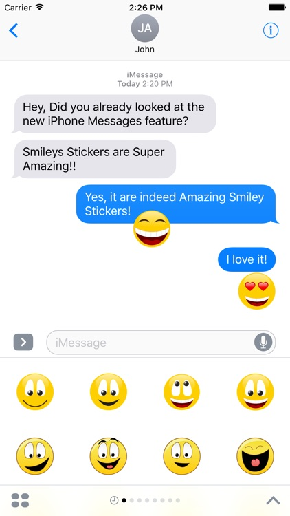 "Happy Smilies ""Big Smile Stickers"" for iMessage"