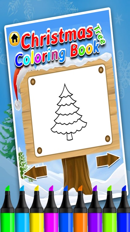Christmas Tree Coloring Book - Christmas game