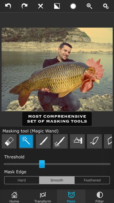 Superimpose app image